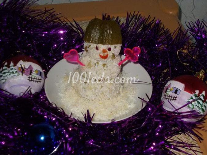 Порционный салат Снеговичок