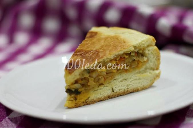 Дрожжевой пирог с капустой в мультиварке: рецепт с пошаговым фото