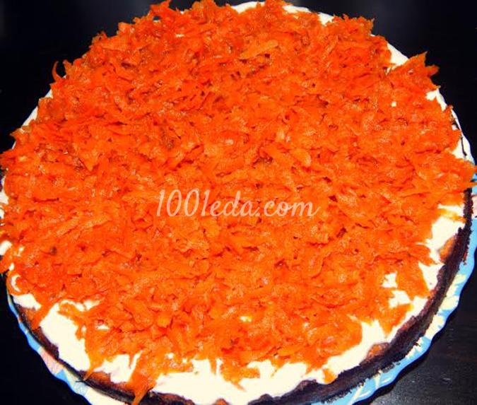 Морковный пирог Тройное наслаждение: рецепт с пошаговым фото
